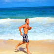 Royalty-Free Stock Photo: Fitness on the Beach