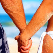 A Young Romantic Couple on the Beach - Foto Stock