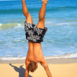 Royalty-Free Stock Photo: Handstands in the Sand