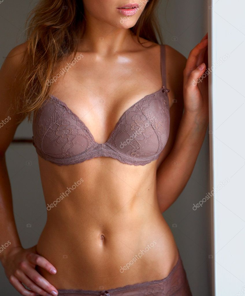 Underwear model posing in soft light — Stock Photo #3220211