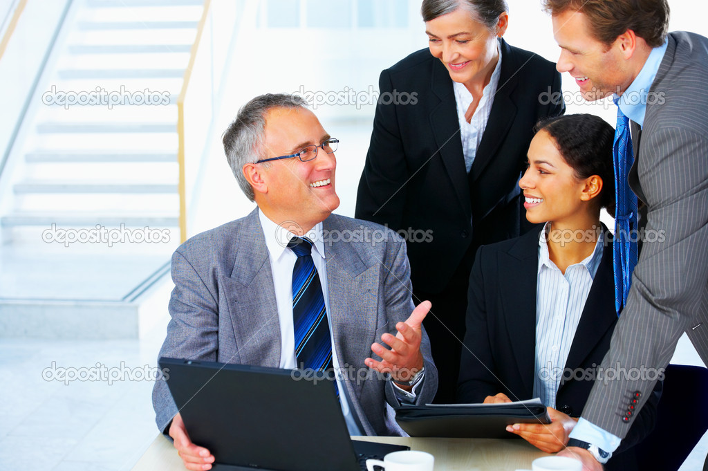 Business team at a meeting in a light and modern office environment. — Stock Photo #3220670