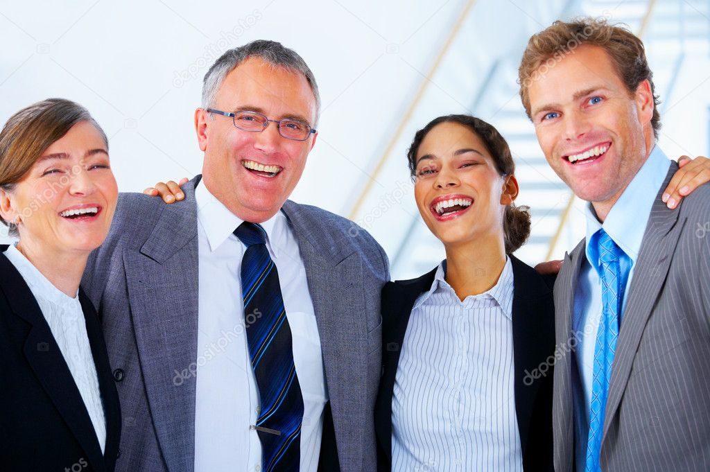 Portrait of a diverse workgroup having a laugh.   Stock Photo #3220937