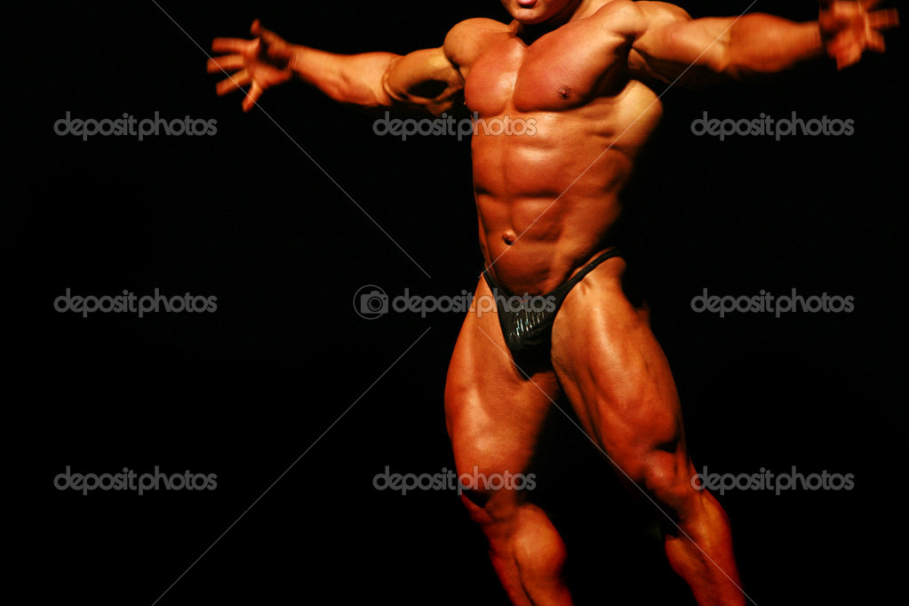 These pictures are from a bodybuilding competition in Norway, 2006. The youngest contestant was only 18 years old; see if you can spot him. — Stock Photo #3221020