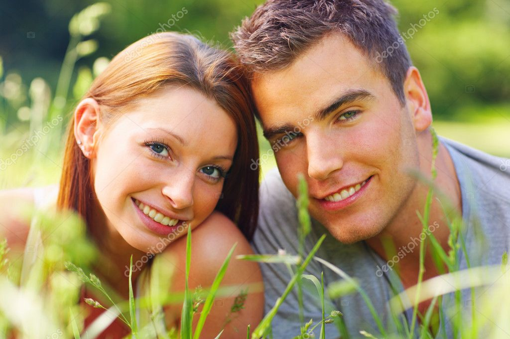 An attractive couple caught in a moment  Stock Photo #3221681