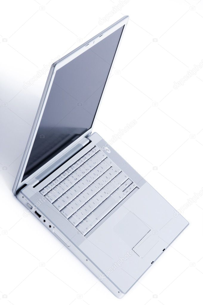 Studio shot of a stylish laptop. Isolated on white background  Stock Photo #3222202