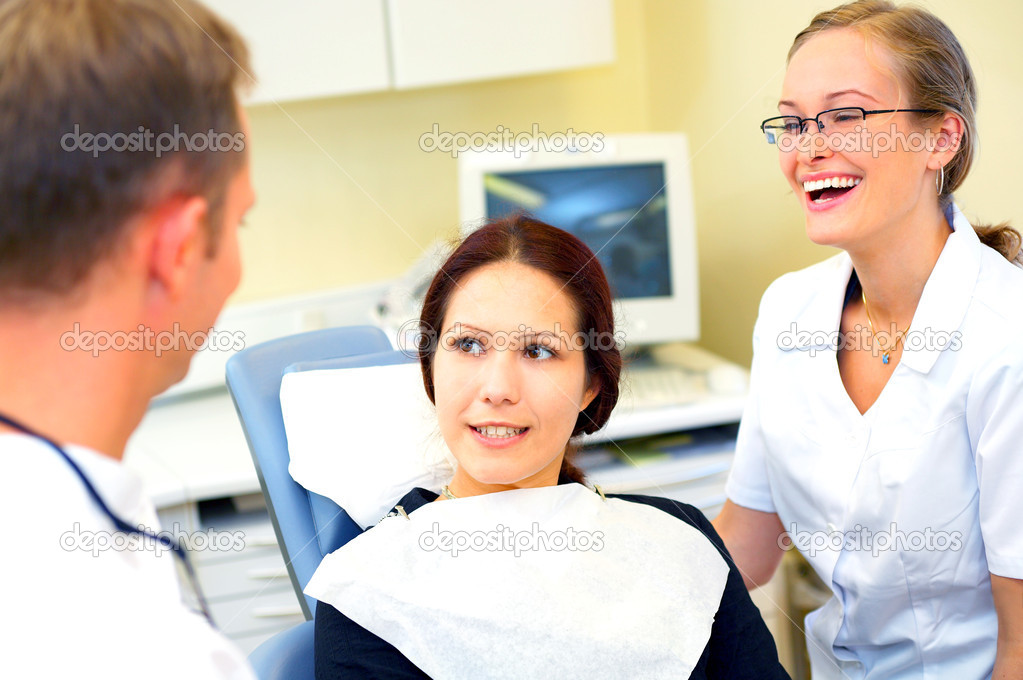 Visit at the dentist - a series of dentist related pictures.  — Stock Photo #3224244