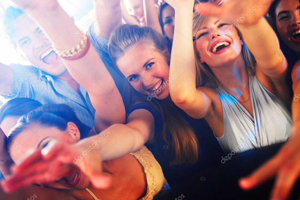 A group of young enjoying a concert — Stock Photo #3224351