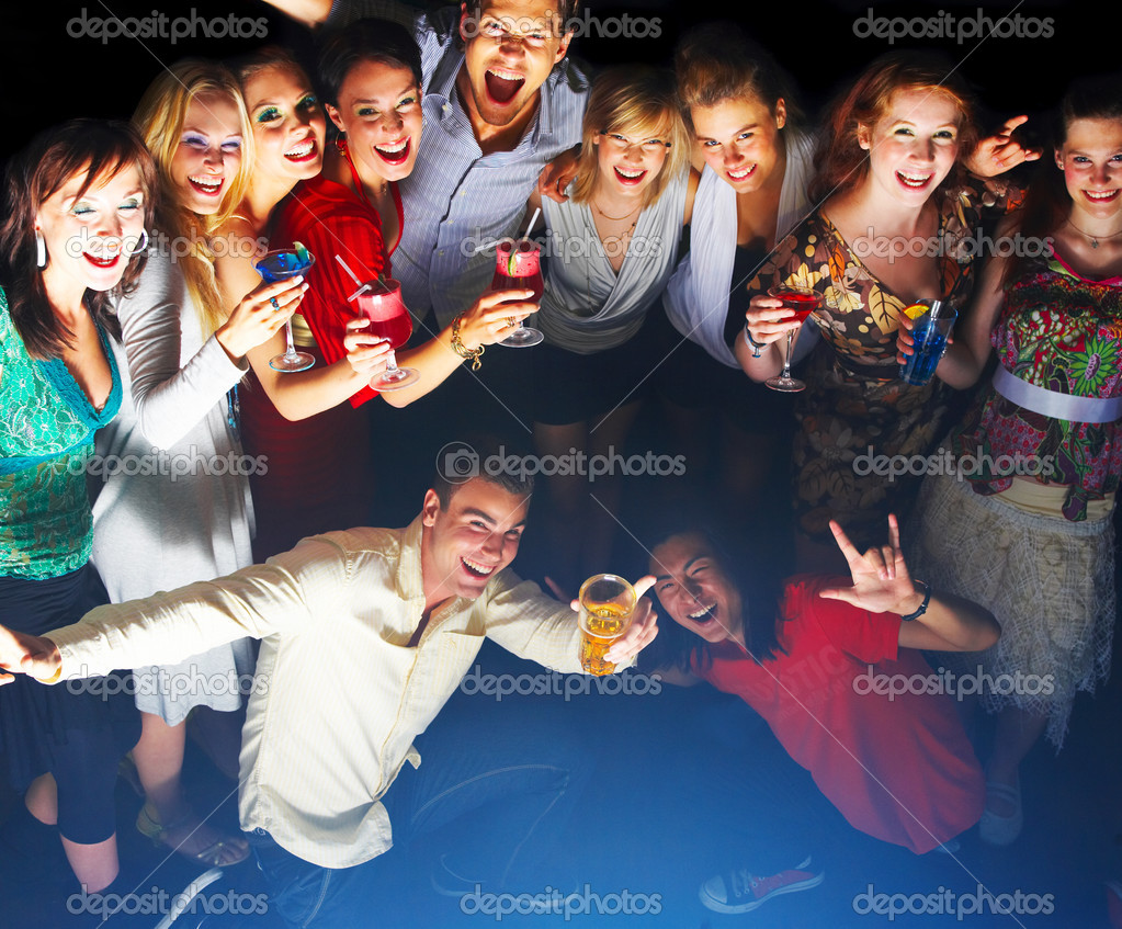 A group of young enjoying cocktails  Stock Photo #3224454