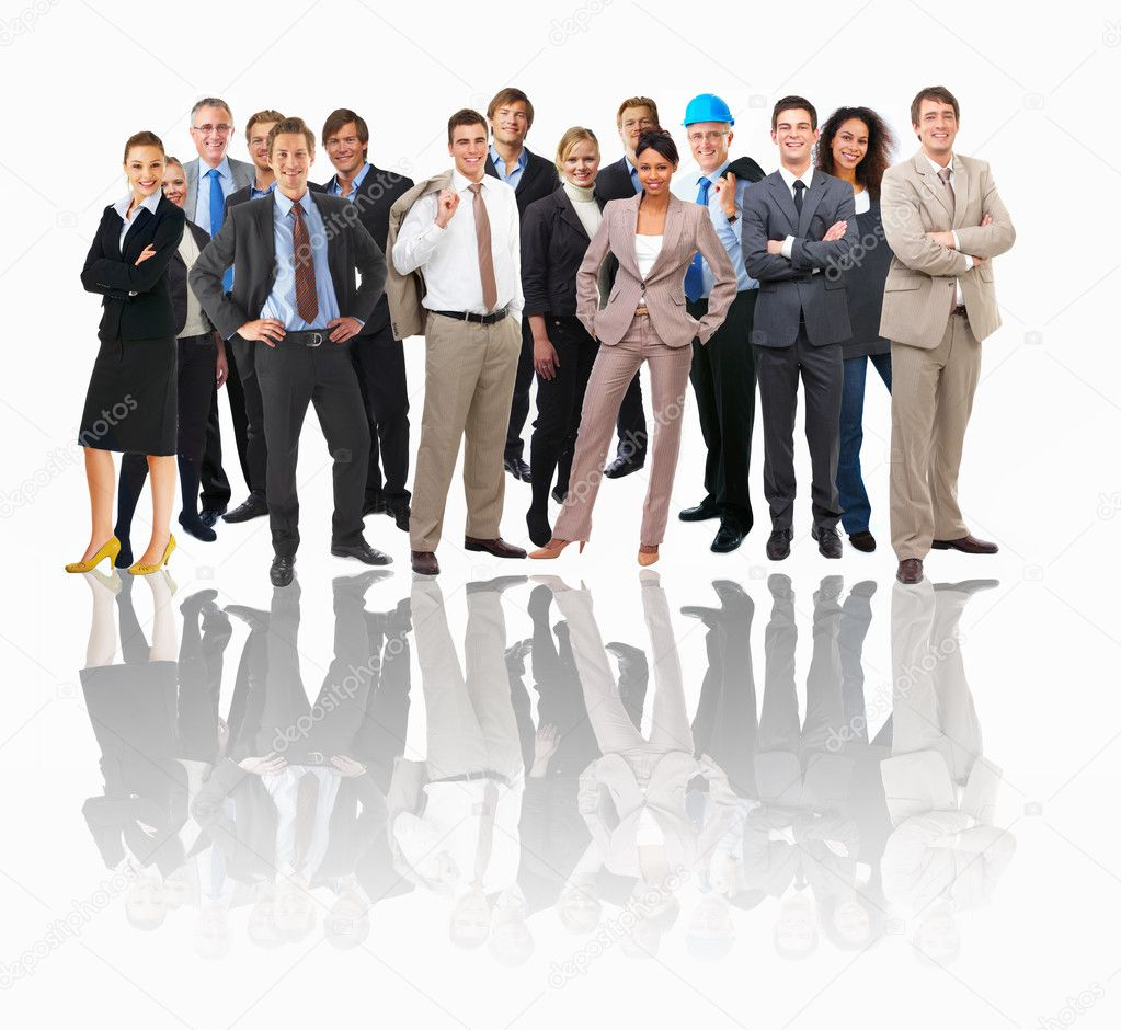 Large group of different and workers — Stock Photo #3227245