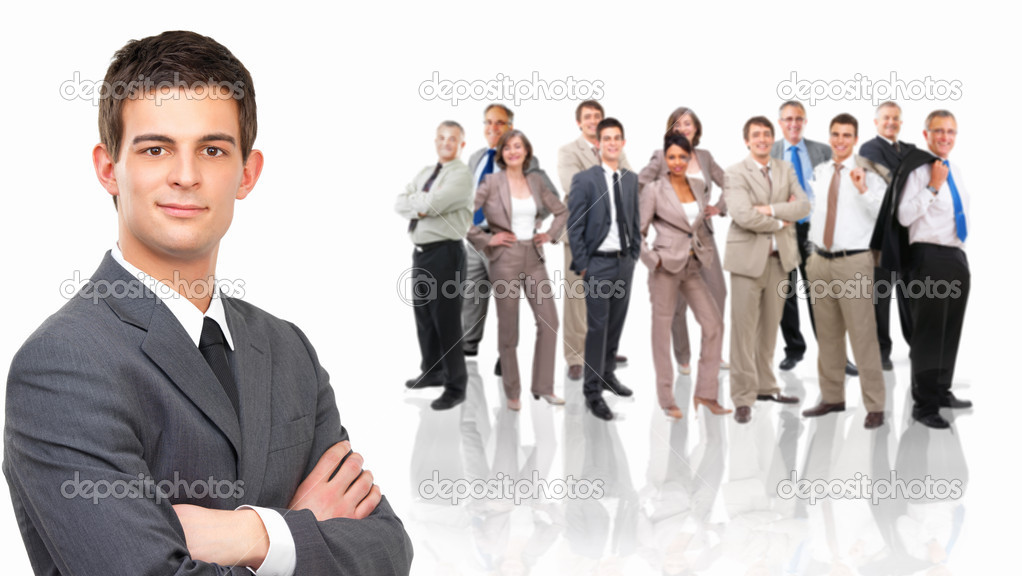 Portrait of a businesswoman standing against white background — Stock Photo #3227263