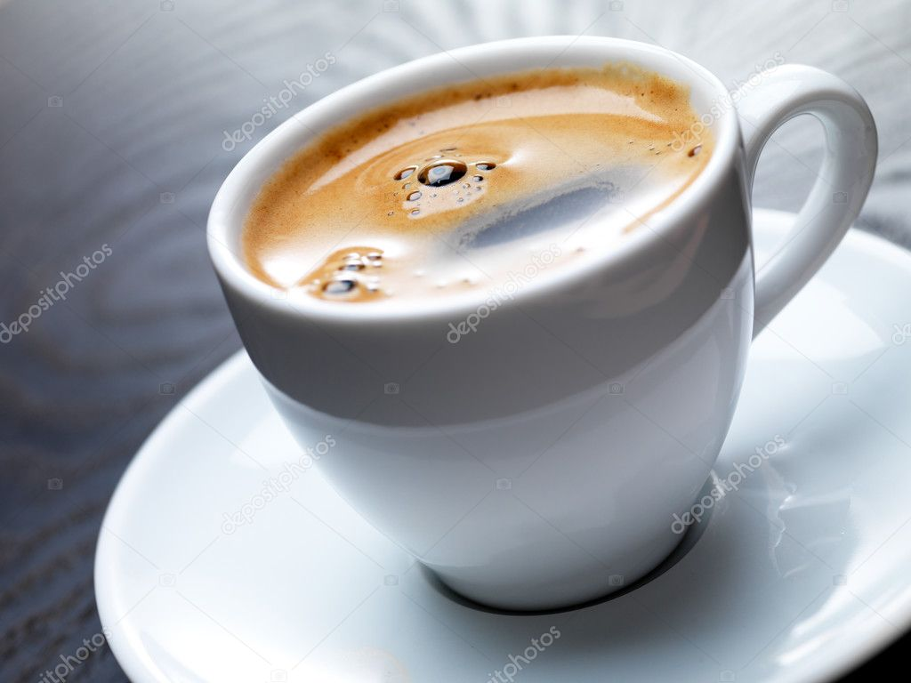 Close-up of a delicious cup of coffee or hot chocolate — Stock Photo #3228423