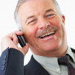 Cheerful senior business man - Stock Photo