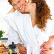 Royalty-Free Stock Photo: Honeymoon love in the kitchen