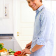 Royalty-Free Stock Photo: Making dinner