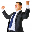 Royalty-Free Stock Photo: One very happy businessman