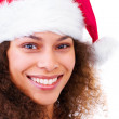 Cute santa girl - Stock Photo