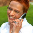 Royalty-Free Stock Photo: Business woman making a phone call.