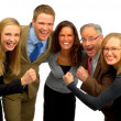 Five Person Business Team - Stok fotoğraf