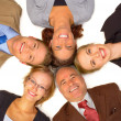 Heads joined in business - Stock Photo