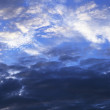 Dark and blue sky - Stock Photo