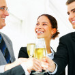 Business group celebrating - Stock Photo