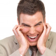Royalty-Free Stock Photo: Frustrated business man screaming. Stress at work.