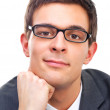 Royalty-Free Stock Photo: Portrait of young business man wearing glasses
