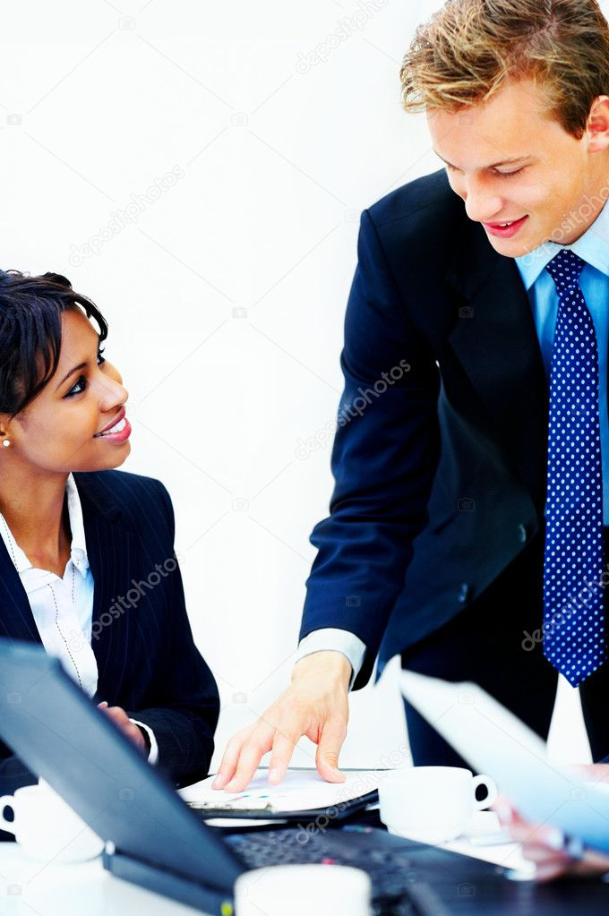 Business group meeting portrait - business working together. A diverse work group. — Stock Photo #3235409