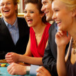 Royalty-Free Stock Photo: BlackJack Table. Friends having a good time!