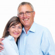 Royalty-Free Stock Photo: Closeup of a happy senior couple looking at camera