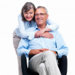 Royalty-Free Stock Photo: Closeup of a happy senior couple