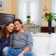 Royalty-Free Stock Photo: A yonng couple in thier fashionable home.