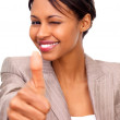 Royalty-Free Stock Photo: Business woman with thumbs up gesture