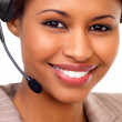 Royalty-Free Stock Photo: Female support line operator with headset