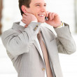 Royalty-Free Stock Photo: Talking business on mobile phone
