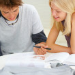 Royalty-Free Stock Photo: Boys and girls doing homework together
