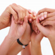 Human hands joined together - Stock Photo