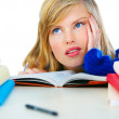 Royalty-Free Stock Photo: Tired of school.
