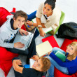 Royalty-Free Stock Photo: Relaxed studygroup