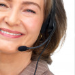 Royalty-Free Stock Photo: Businesswoman wearing headset