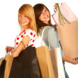Royalty-Free Stock Photo: Young girl shopping..bigtime.
