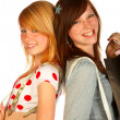 Royalty-Free Stock Photo: Girls shopping..bigtime.