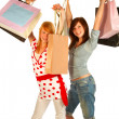 Young girl shopping..bigtime. - Foto de Stock