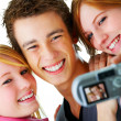 Royalty-Free Stock Photo: Selfportrait of three teens