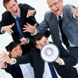 Loud business group. - Stock Photo