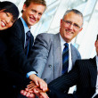 Royalty-Free Stock Photo: Teamwork across age and nationality