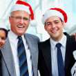 Christmas fun at the office - Foto Stock