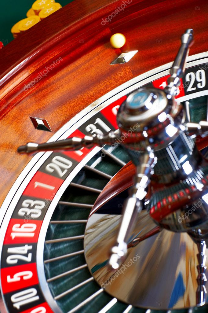 Roulette table in action. Shot from a session in a real casino. — Stock Photo #3240532