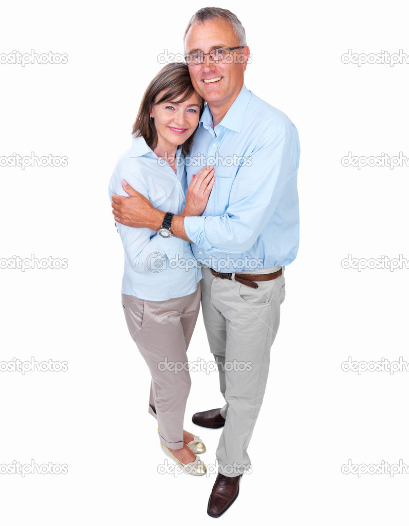 Closeup of a happy senior couple embracing each other — Stock Photo #3240747