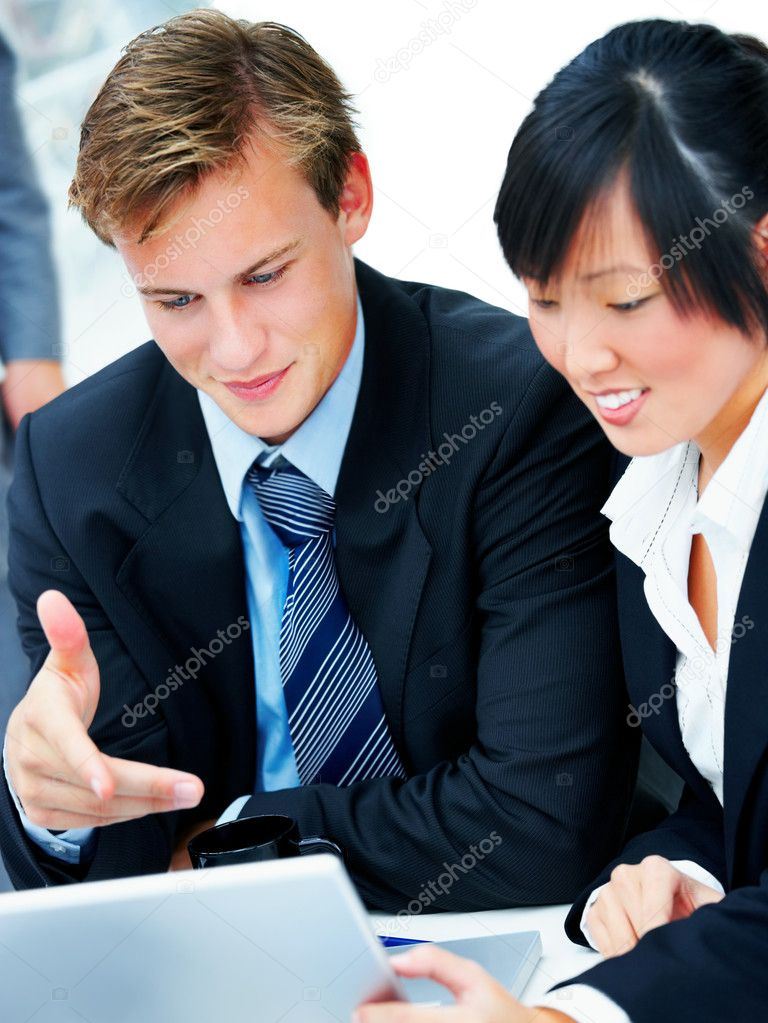 Business team at a meeting in a light and modern office environment. — Stock Photo #3246287